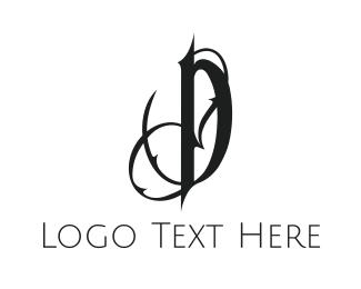 Thorn - Gothic Letter D logo design