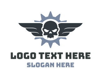 Horror - Flying Skull logo design
