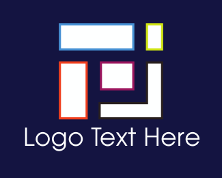 Tetris - Geometric Shapes logo design