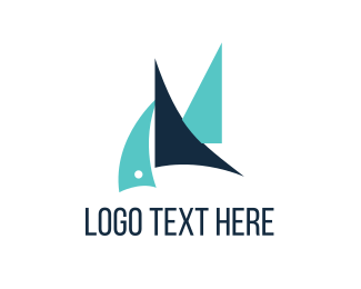 Port - Blue Sailboats logo design