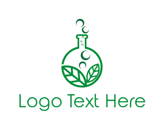 Test Tube - Natural Lab logo design