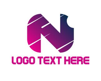 Letter N - Nightfall Letter N logo design