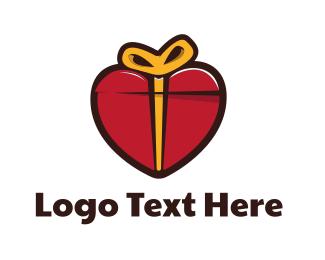 Send - Gift Heart logo design