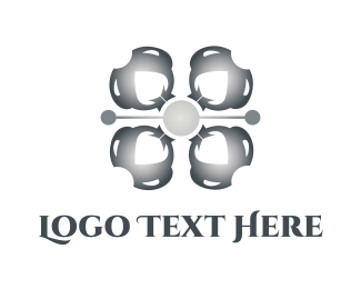 Drone - Industrial Flower logo design