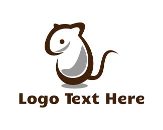 Small - White Mouse logo design
