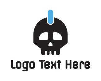 Pubg - Power Skull logo design