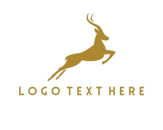 Antelope - Golden Gazelle logo design