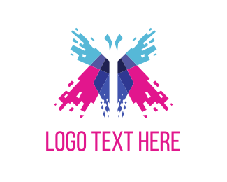 Insect - Butterfly Spark logo design