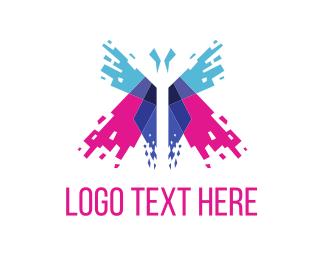 Butterfly Spark Logo Maker