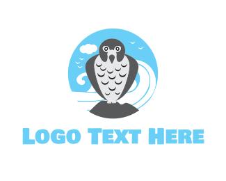 Hawk - Peregrine Falcon logo design