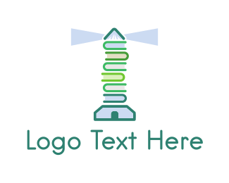Lighthouse - Book Lighthouse logo design