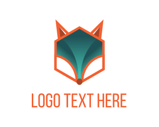 Red Fox - Hexagonal Fox logo design