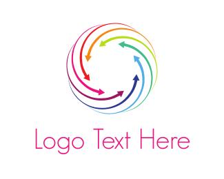 Center - Converging Lines logo design
