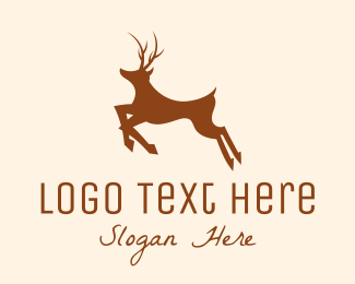 Reindeer - Black Deer logo design