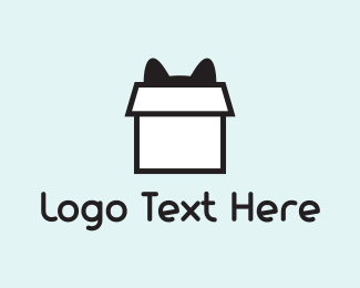 Storage - Cat Box logo design