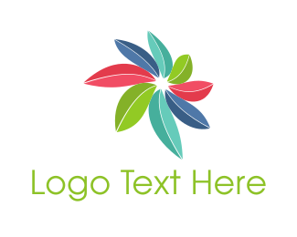 Tropical - Colorful Leaves  logo design