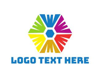 Hexagonal - Rainbow Hexagon logo design