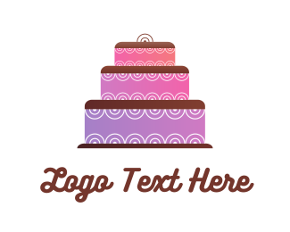 Wedding - Purple Cake logo design