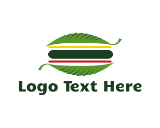 Hamburger - Vegan Burger logo design