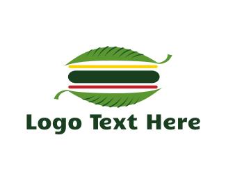 Salad - Vegan Burger logo design