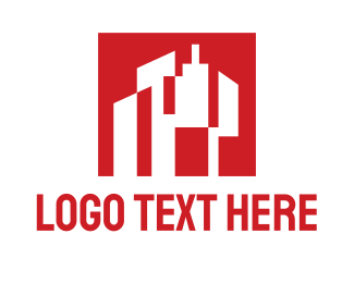 Urban - White Buildings logo design