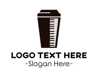 Coffee Shop - Piano & Coffee logo design