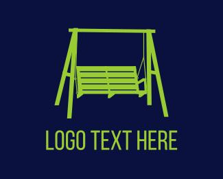 Bench - Porch Swing logo design