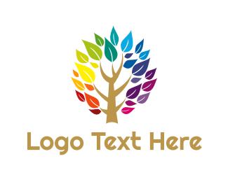 Gardener - Rainbow Tree logo design