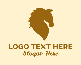 Equine - Golden Horse logo design