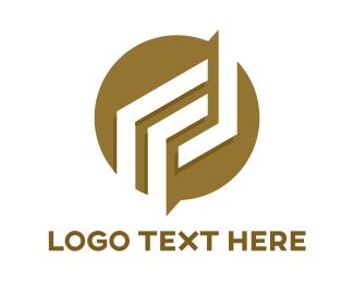 Insurance - Round Line Pattern Patch logo design