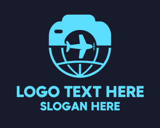 Plane - Travel Photography logo design