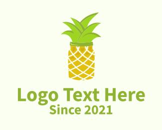 Pineapple - Pineapple Jar logo design