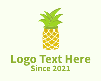 Jar - Pineapple Jar logo design