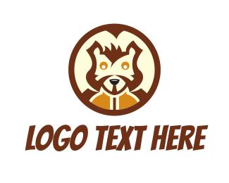 Bandit - Squirrel Head logo design