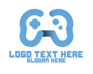 Arcade - Modern Blue Controller logo design