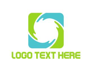 Breathe - Green Cycle logo design