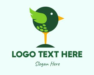 Golf - Cute Golf Bird logo design