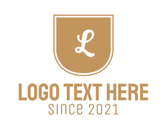 Hotel - Golden A Emblem logo design