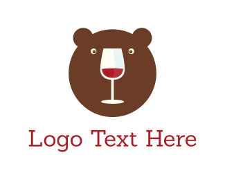 Pub - Bear & Wine logo design