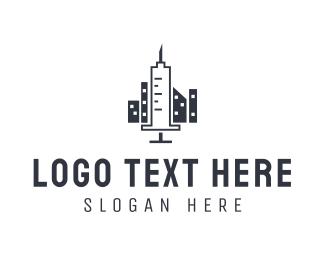 Medication - Syringe City logo design