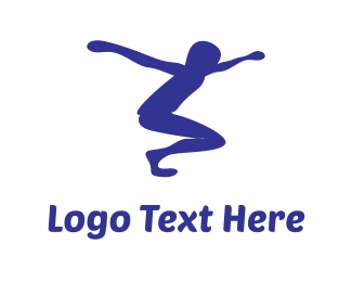 Jump - Jumping Boy logo design