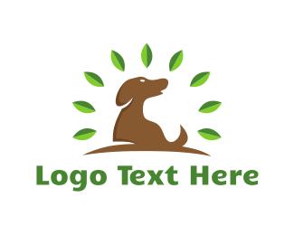 Dog Walker - Tree & Dog logo design
