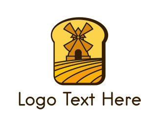 Wheat - Bread Mill logo design