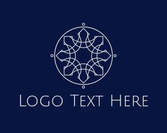Spiritual - Silver Star Circle logo design