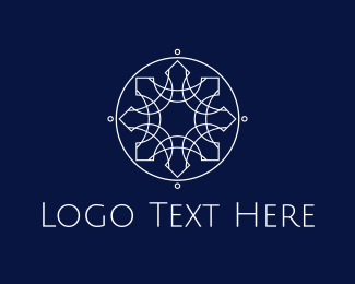 Indian - Silver Star Circle logo design