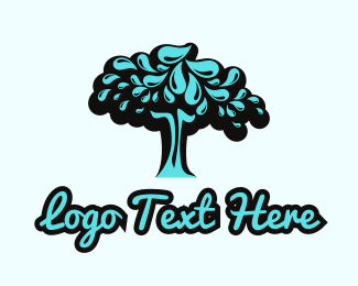 Plant - Water Tree logo design