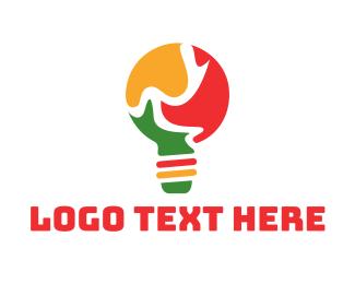 Africa - Puzzle Lamp logo design