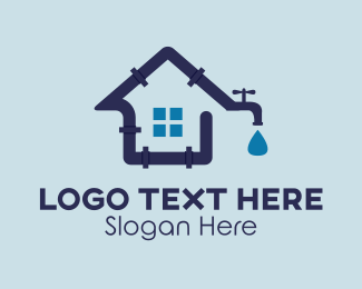 Water - House Plumbing logo design
