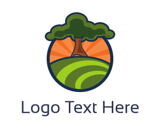 Gardening - Oak Hill logo design