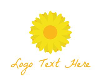 Bouquet - Yellow Bloom Flower logo design